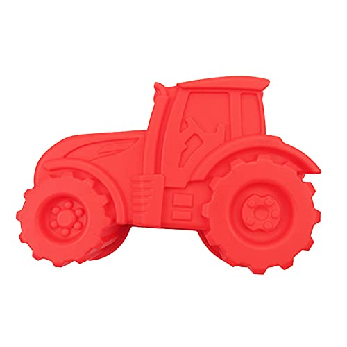 Traktor Silikonform Backform Traktor Rote Traktor Backform Kindergeburtstag Silikonform FüR Die Kindergeburtstagsfeier KöNnen Daraus Kuchen, Brot, Schokolade, Dessertpudding Usw, Hergestellt Werden