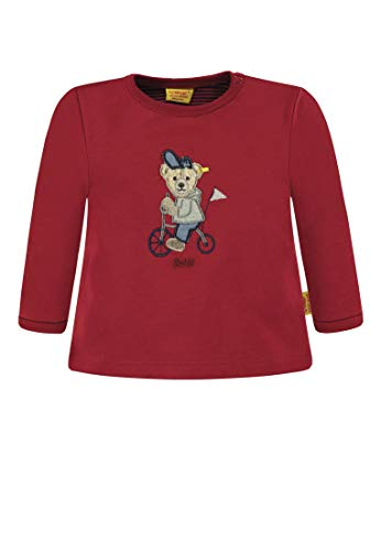 Steiff Steiff Baby-Jungen 1/1 Arm Sweatshirt, Rot (Jester red 2120), 62