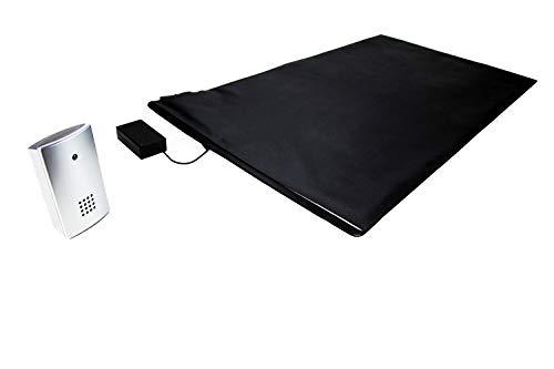 Pratoline Funk-Alarmtrittmatte - Pflegehilfe - mit mobilen Funkempfänger - 70cm x 40cm - Demenz Sturzprävention - Wegläuferschutz