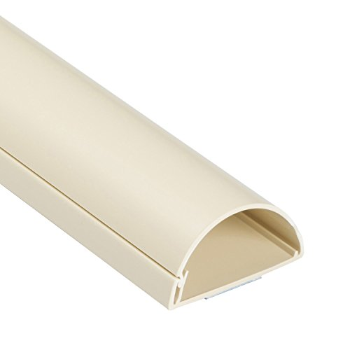 D-Line TV Cable Raceway, Large On Wall Cord Cover Beige, 39 Inch Channel to Hide and Conceal Cords and Wires, 2 Inches Wide by 1 Inch High