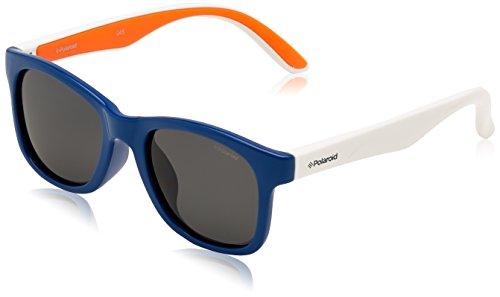 Polaroid PLD 8001/S Y2 T20 48 Gafas de sol, Azul (Bluette Orange/Grey Pz), Unisex Niños