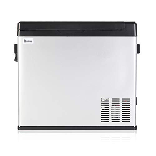MAG.AL Touch Screen Car Refrigerator, Portable Compressor Stainless Steel Adjustable Thermostat Mini Freezer and Fridge, for Driving, Camping, Travel etc,A
