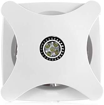 LANDUA Extintor de Escape Potente Ventilador de Pared y de Techo Extractor Incorporado en los hogares