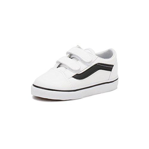 Vans TD Old Skool V True White Leather 6.5 M US Infant