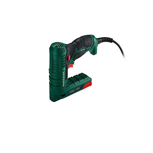 Grapadora clavadora electrica con 500 grapas y clavos para tapizar, grapar, clavar...