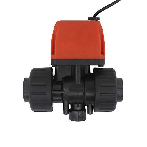 Multi-uso PVC valvula motorizada 2 vias para Tubo y Rosca electrovalvula valvula motorizada pvc 1/2 3/4 1 pulgada DC 6v 12v 24v PVC (DC 24v, 1/2 pulgada DN15)