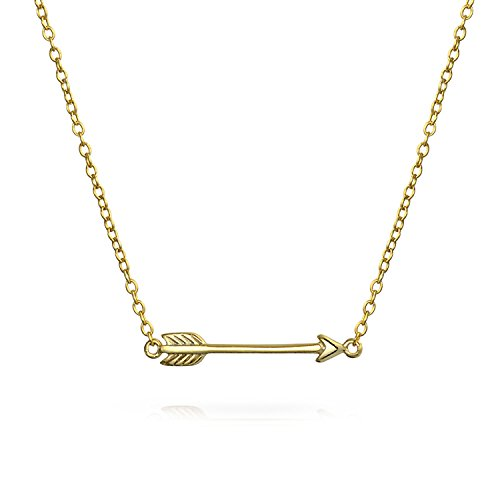 Small Sideways Cupid Arrow Pendant Necklace For Women For Girlfriend Teen...