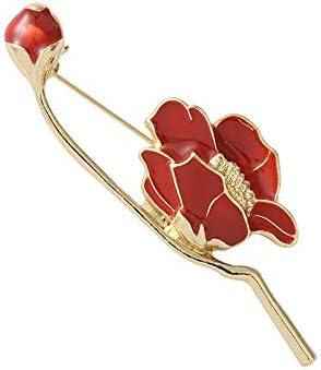ROFARSO Flower Brooch Free shipping Pin Tulip Pins Enamel Magnolia Sacramento Mall Lily
