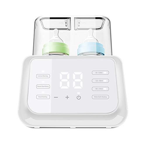 (Aktualisierungen 2021) Owlpow Flaschenwärmer Baby, Multifunktional Sterilisator für Babyflaschen, Babykostwärmer und Warmhaltung mit LCD Bildschirm, Weiß