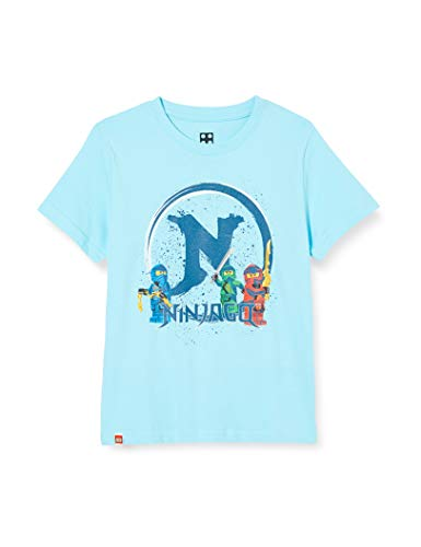 LEGO Jungen cm Ninjago T-Shirt, Blau (Light Blue), (Herstellergröße: 128)