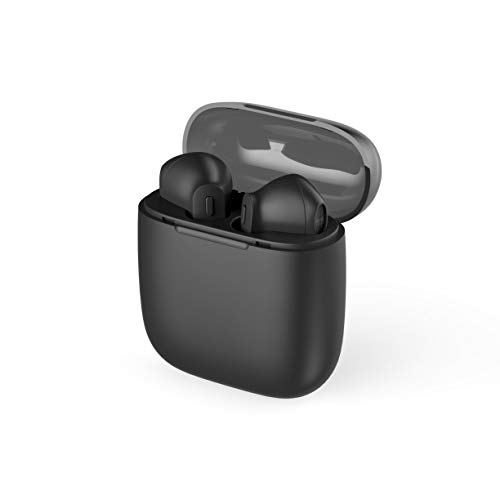 Mysound True Pods 5.0 - Auriculares inalámbricos con Bluetooth 5.0 y Base de Carga, Color Negro