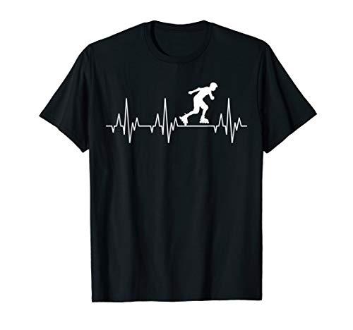 Inlineskater Inlineskating Inlineskates Herzschlag T-Shirt