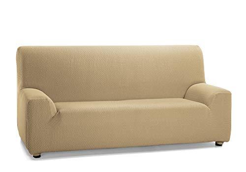 Martina Home Tunez Housse élastique pour canapé en Tissu Marron (Vison) 1 Place (70-110 cm)