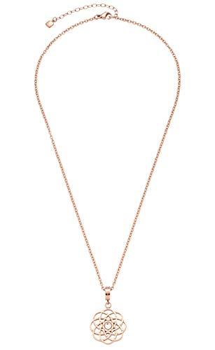Jewels by Leonardo Damen-Halskette Alba, Edelstahl IP roségold mit Karabinerverschluss, Anhänger mit klarem Schliffkristall, Länge 450 mm, 016783