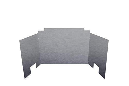 RH Peterson Co. Contemporary Three Panel Satin Stainless Steel Fyreback - 24 inch