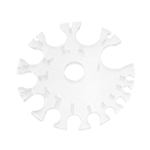Harilla Körperschmuck Messwerkzeug Piercings Messgerät Messrad Rad Bremssattel Kunststoff