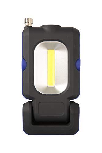 Mountain Warehouse Lampe Torche de Travail COB - Lampe de Poche Lumineuse et résistante avec Corps en ABS - pour Le Camping, la randonnée, Les activités extérieures Noir Taille Unique