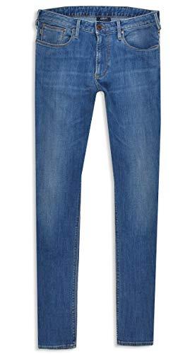 Armani Herren Jeans J06 medium Blue Treated Stretch