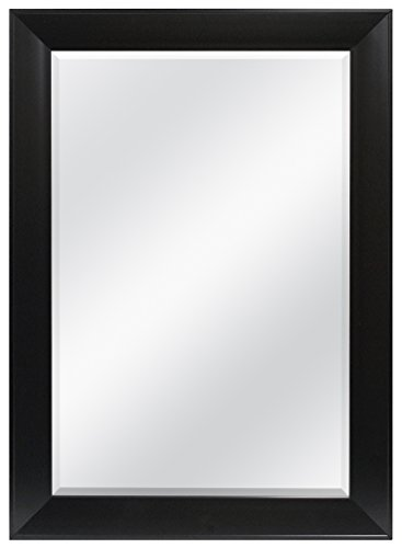 MCS 24x36 Inch Wedge Rectangular Mirror, 30x42 Inch Overall Size, Black