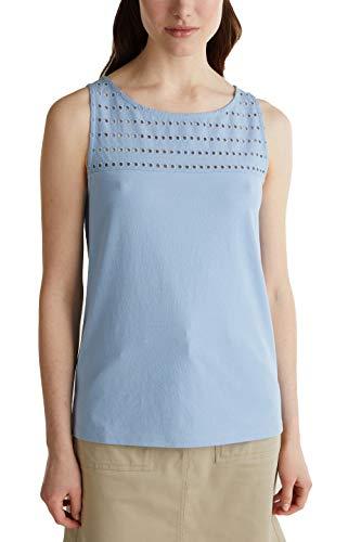 Esprit Damen 040EE1K334 T-Shirt, 443/LIGHT Blue 4, L
