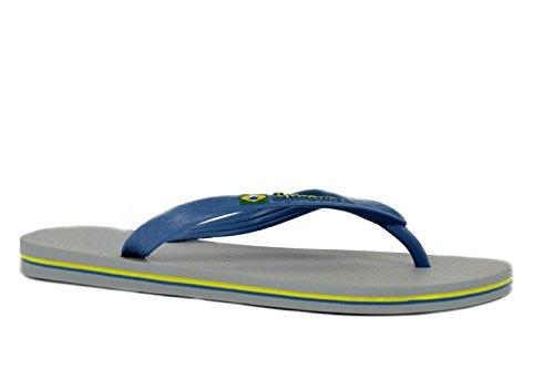 Ipanema Brasil L - Chanclas para hombre, talla 45/46, color: gris/azul