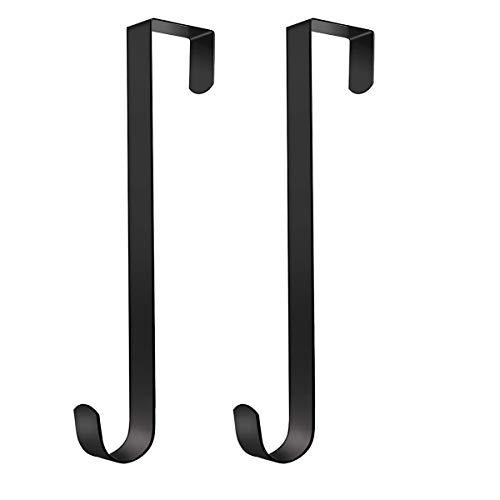 Gancho de corona de Navidad Corona puerta delantera de Navidad Percha Metal con ganchos para colgar en la puerta, para colgar en la puerta delantera, perfecto para el hogar/oficina (2 Piezas, 31 cm)