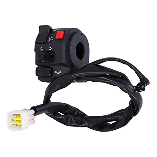 Surebuy Interruptor de Manillar, botón de bocina de Manillar de Interruptor de Manillar de 7/8 Pulgadas para Motocicletas para vehículos Todo Terreno