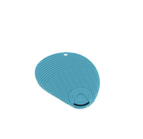KUHN RIKON - Esponja Estropajo de Silicona con rascador para Limpieza (Azul, Silicona, Suave, 130 mm, 100 mm)