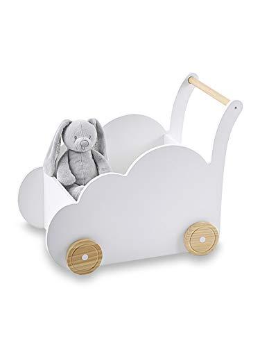 Vertbaudet Fahrbare Spielzeugkiste,Wolke weiß ONE Size