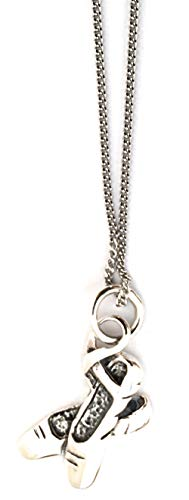 Toucan of Scotland Sterling Silver Ballet Shoes Pendant Necklace