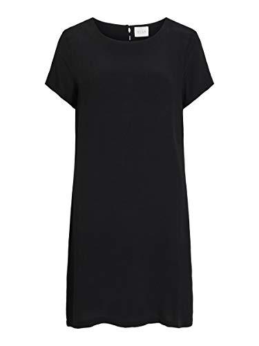 Vila Female Kleid in Knielänge Kurzärmeliges 38Black