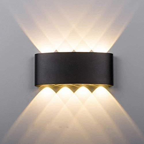 SISVIV 8W Apliques de Pared Exterior LED Lámpara de Pared d