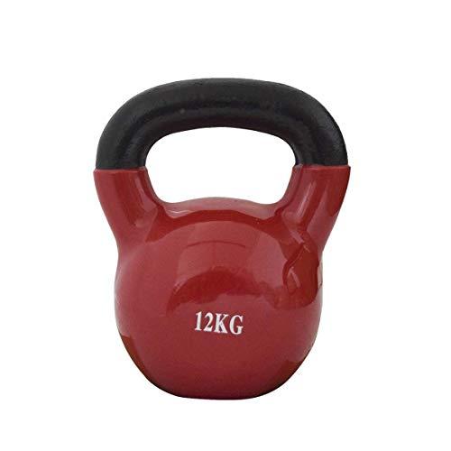 FitAndFun Ghiria Kettlebell Neoprene Rosso Body Building Rafforzamento Palestra 12kg(Cod. SP5031)