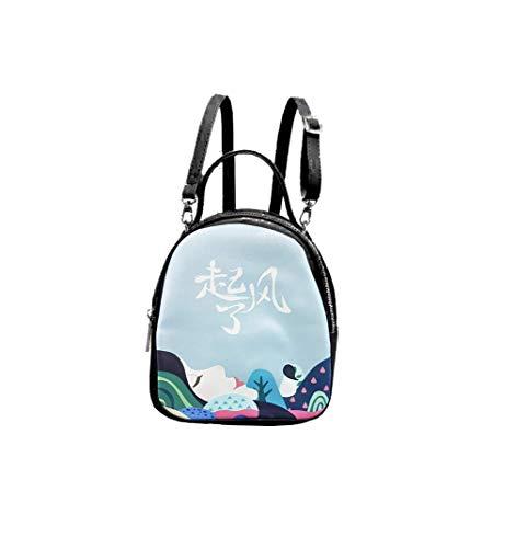 BFC Multi Pocket Sling Bag with Adjustable Strap for Women (Black)
