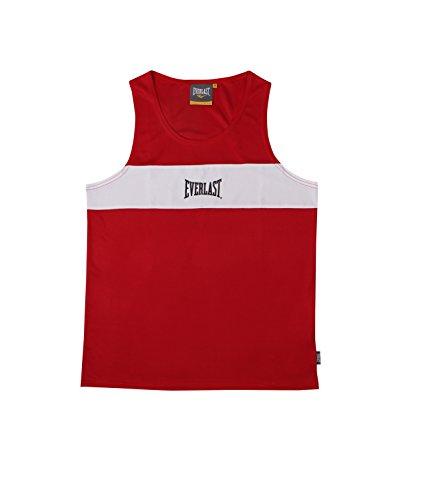 Everlast 4424 - Camiseta de boxeo unisex, Rojo / Blanco, M