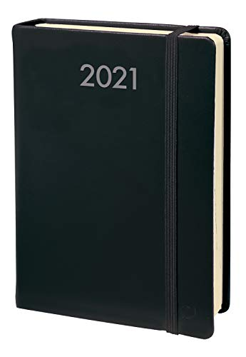 Quo Vadis 61700219MQ Daily Pocket Kalender 2020 (8,8x13cm, 1 Tag pro Seite, Fadenbindung, mehrsprachig, elfenbeinfarbenes Papier) 1 St?ck schwarz