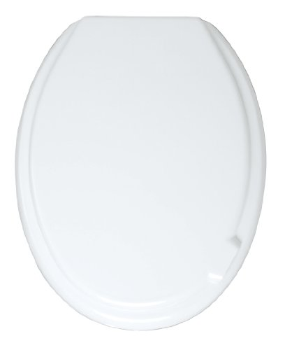 WENKO WC-Sitz Mop - Toilettensitz, variable Kunststoffbefestigung, Thermoplast, 37 x 46 cm, Weiß