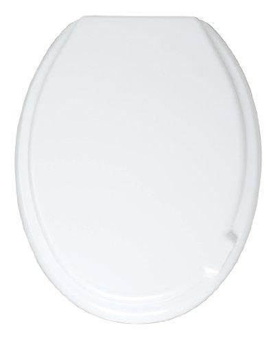 WENKO 102009100 WC-Sitz Mop Toilettensitz, variable Kunststoffbefestigung, 37 x 46 cm, weiß