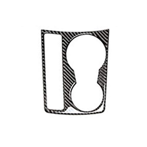 Piezas de automóviles para Audi A4 B8 Interior Cubierta De Cambio De Marchas Pegatinas De Fibra De Carbono Consola Marco De Navegación CD Panel Embellecedor Decoración (Talla : Water Cup)