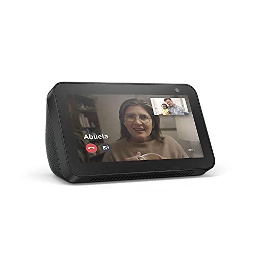 Echo Show 5 (1.ª generación, modelo de 2019) | Pantalla inteligente con Alexa | Mantén el contacto con la ayuda de Alexa | Antracita