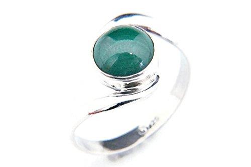 Ring Silber 925 Sterlingsilber Malachit grün Stein (Nr: MRI 03), Ringgröße:48