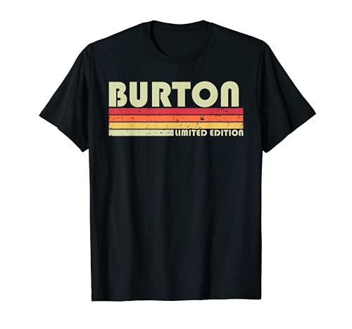 BURTON Nombre de regalo personalizado divertido retro vintage cumpleaños Camiseta