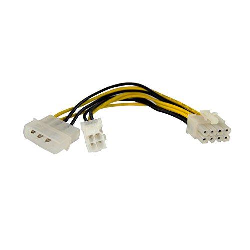 StarTech.com 15cm 4pin auf 8pin EPS-Netzadapter mit LP4 - Bu/St - Stromadapter Buchse/ Stecker