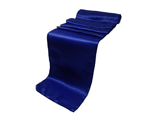 ELINA'S PACK OF 10 Wedding 12 x 108 inch Satin Table Runner Wedding Banquet Decoration (10, ROYAL BLUE)