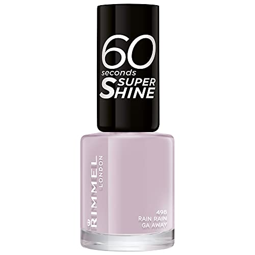 Rimmel - Vernis à Ongles 60 Seconds Super Shine Rita Ora - Ultra Brillance et Longue Tenue - Séchage Rapide - Rain Rain go Away - 8ml