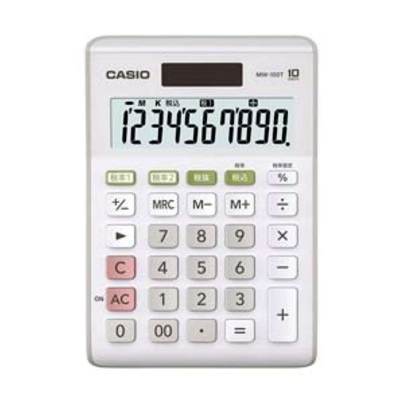 チャーミング代替案安全性(業務用セット) カシオ(CASIO) W税率対応電卓 小型電卓 10桁 縦14.7×横10.3×厚さ2.9cm MW-100T-WE-N 1個 【×3セット】 生活用品 インテリア 雑貨 文具 オフィス用品 電卓 14067381 [並行輸入品]