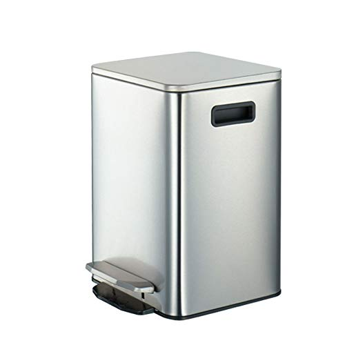 Find Cheap HATHOR-23 Square European Style Stainless Steel Rubbish Bin, Foot Step Typ Waste Bin with...