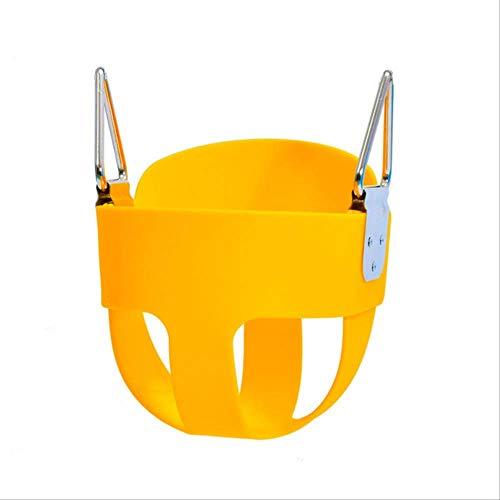 FRWE Kind Schaukel Eva Sicherheit Baby Swing Korb Sitz Kinder Kinder Swing Indoor Hängen Stuhl Spielzeug Gelb