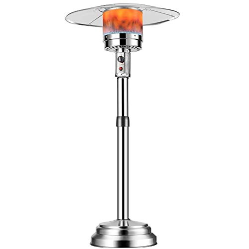 ZYF Propane Patio Heater Umbrella Outdoor Gas Heater Gas Propane Heater Outdoor Table Top Heater W/Adjustable Thermostat,Suitable for Yard,Commercial Restaurant (Size : #2)