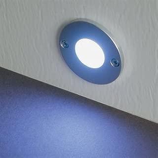 MiniDisc LED Step Light Aluminum Finish Cool White LED's